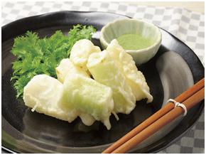 白ネギの天ぷら