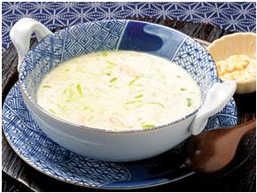 白ネギのミルクスープ