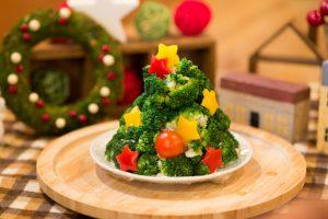 大山ブロッコリー®のクリスマスツリーサラダ